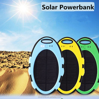 new products 2016 mini waterproof 5000mah solar power bank solar led for iphone xiaomi power bank
