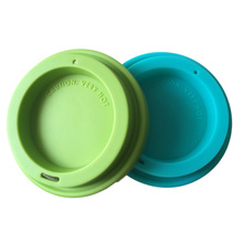 Fda colorful silicone rubber coffee cup lids, eco glass cup with lids