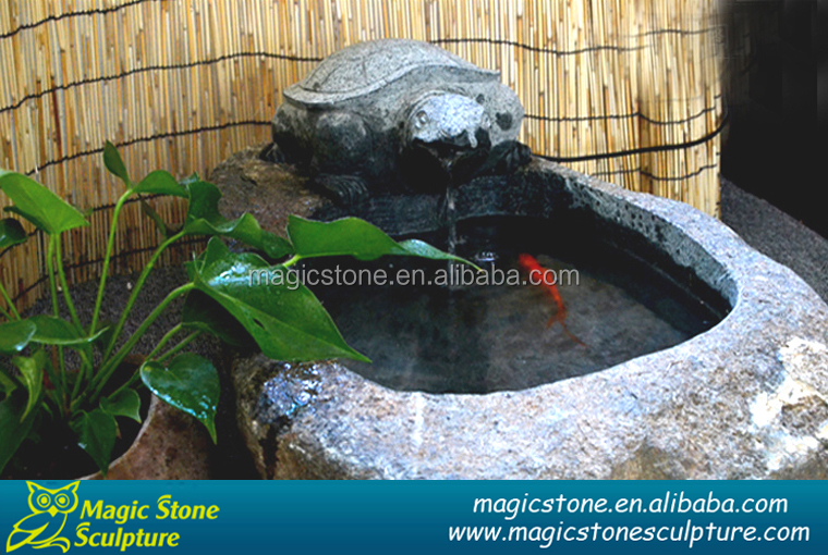 Decorative natural stone cheap fish bowl