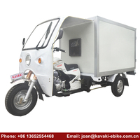 Chinese Enclosed 3 Wheel Ice Cream Tricycle Water Cooled 200cc 250cc Powerful Engine Motorcycle Food Trucks
