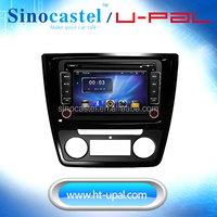 OE Fit In Dash Car DVD Player Navigation for Skoda Yeti 2014 with radio tuner, 7inch touch screen and 800*480 resolution