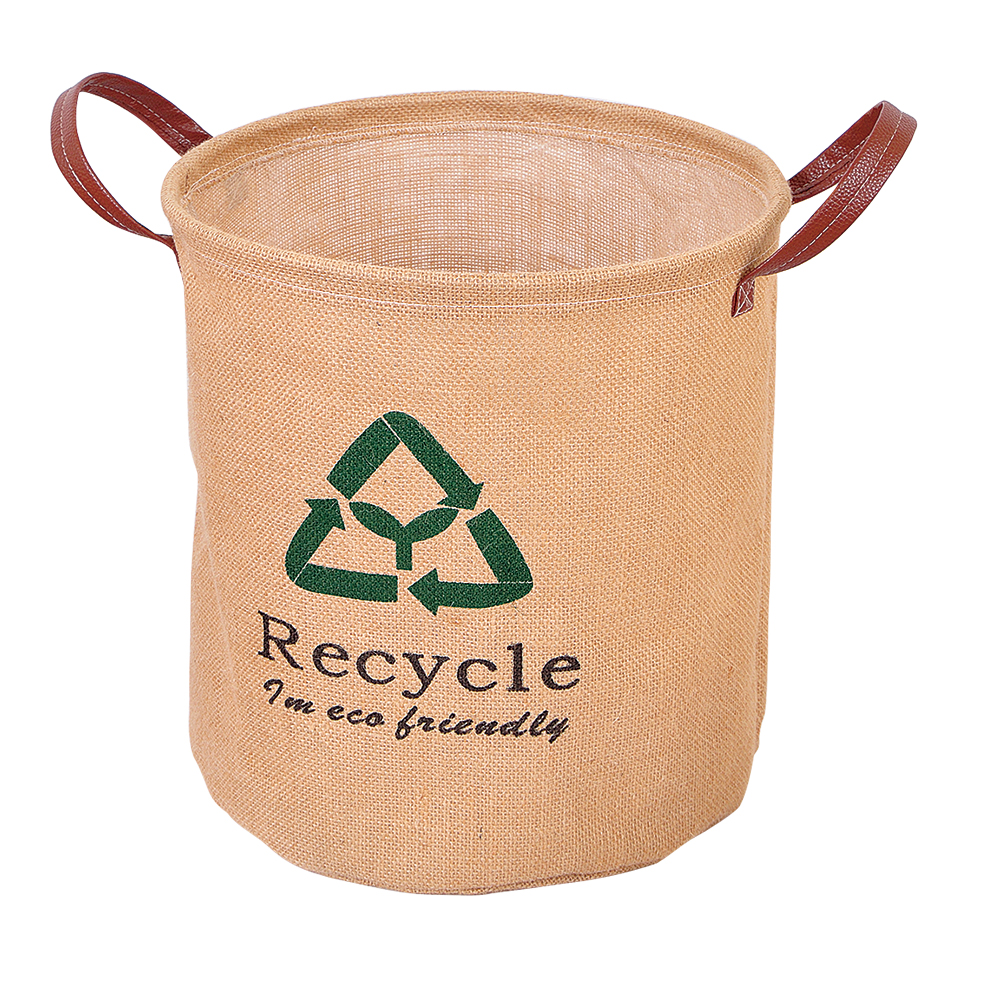 Recycle Flax Fabric Folding Linen Laundry Baskets