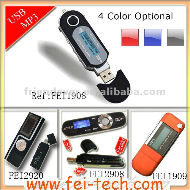 USB MP3 Player With AAA battery