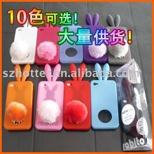 rabbit shape silicone skin cover for iphone