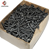 Factory supply carbon steel 3.5x25 black phosphated drywall screw
