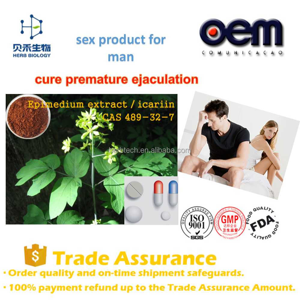 Sex products for men epimedium sagittatum extract powder / high quality icariin 50% 60% 80% 98% epimedium extract