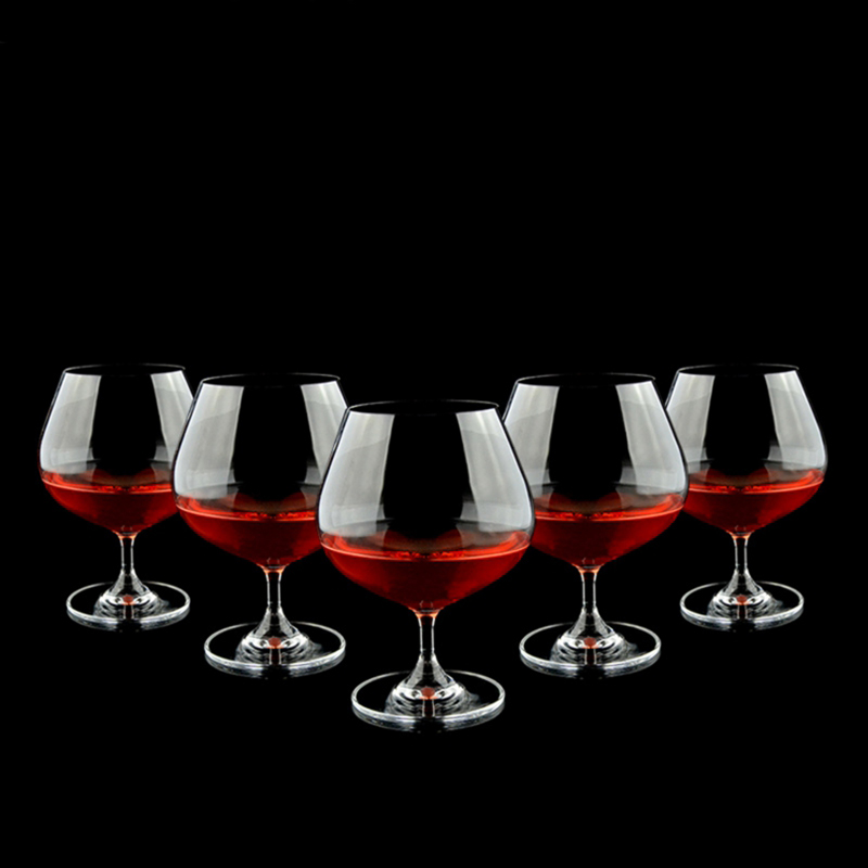 transparent glass wine cup/cheap glass goblet