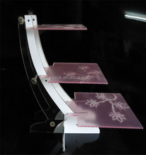Cake stand wedding modern design acrylic cake stands with lights