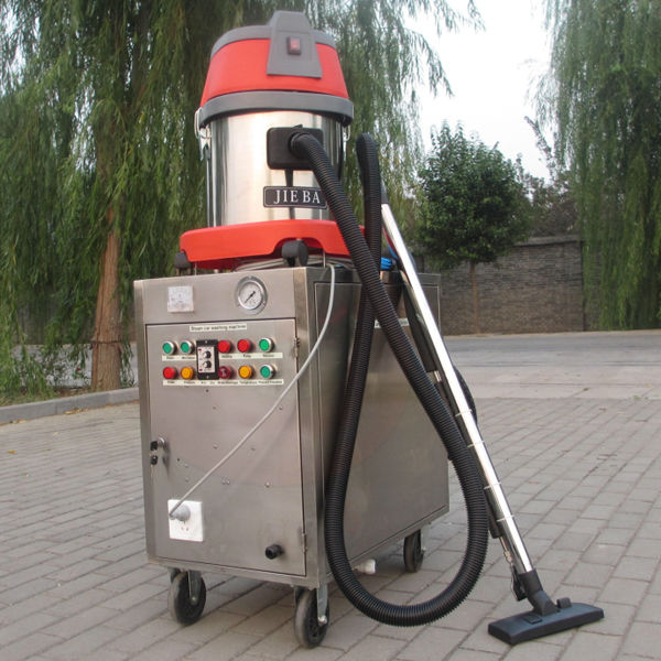 2014 CE no boiler LPG heated dual pumps 20 bars mobile steam water jet car wash machine with two guns