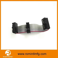 UL Approved Electrical 16 Pin IDC Connector Flat Ribbon Cable 2.54mm Pitch Computer Wiring Harness