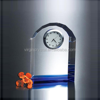 Cheap dome shape crystal desk clock for wholesale