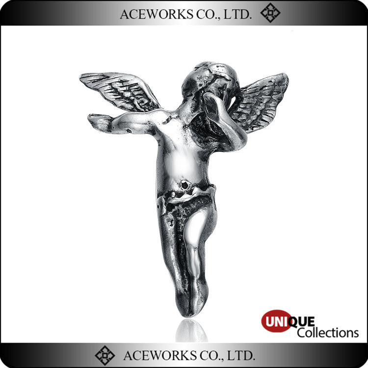 2016 Hot Sale Anitque Sterling Silver Cherub Pendants Unique 925 Silver Angel Necklace Pendants