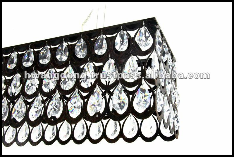 """ Ruby "" Crystal Pendant lamp (ceiling)"