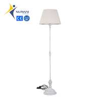 hot selling traditional wooden decorative floor standing lamps tall stem