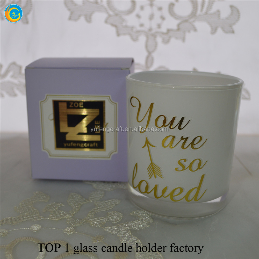 inner painted glass candle containers yufeng craft