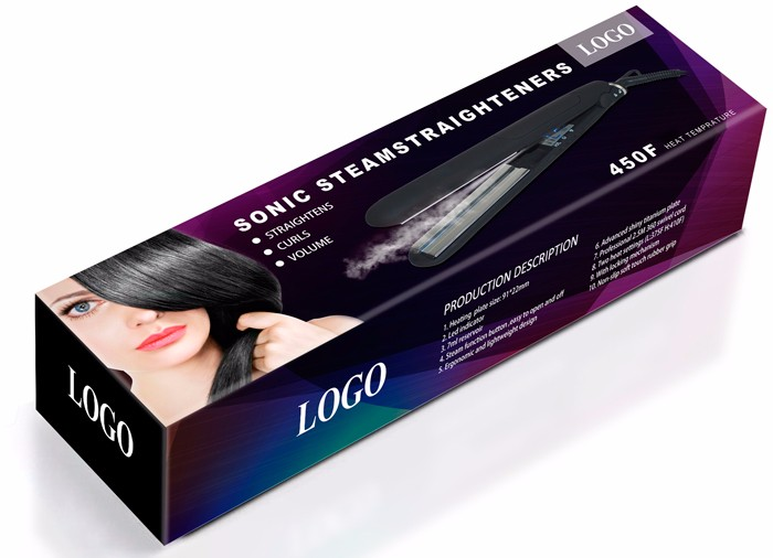 atomization device titanium ceramic automatic steam hair straightener prevent water leakage