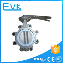lugged type stainless steel butterfly valve with PTFE seat