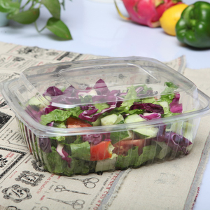 Supply from Chinese manufacturers disposable take away plastic salad bowl with lid