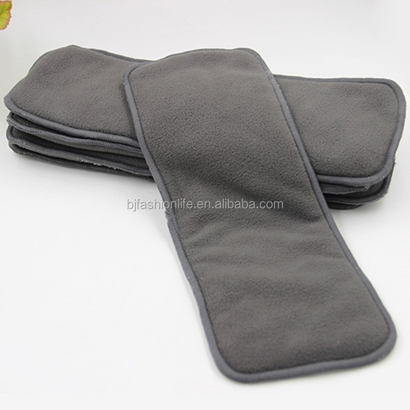 100% Bamboo Charcoal Liner Inserts For Baby Reusable Diaper Natural Bamboo Material washable Cloth diaper Insert 5 layer Bamboo