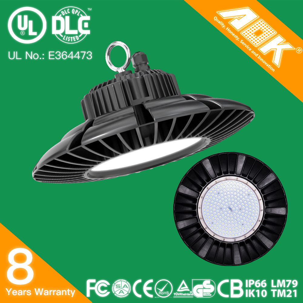 China Manufacturer Promotion Price Motion Sensor 100W 120W 150W 200W IK10 IP65 UFO LED High/Low Bay Light Fixture