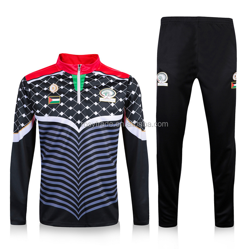 Tracksuits sportswear wholesale fitness apparel mens tracksuit soccer training suit