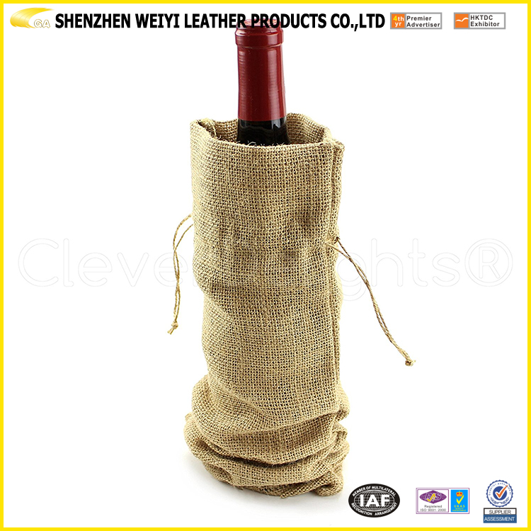 2017 Factory Wholesales Eco-Friendly Non Woven One Bottle Wine Tote Bag