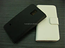 Luxury design genuine real leather Wallet case for Sam Galaxy S5 mini