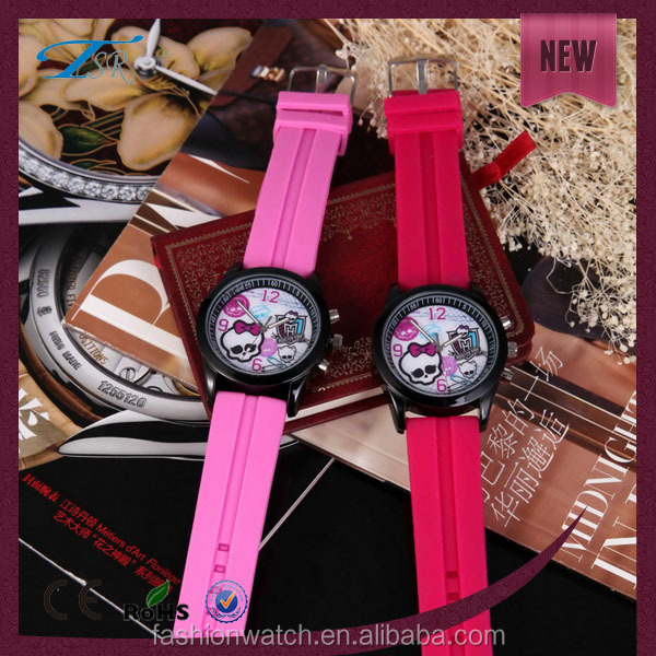 Promotion gift watch for children's Day with bright color rubber strap wholesaler in China colorful silicone teens watches