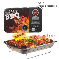 China factory wholesale one time outdoor charcoal smokeless bbq grill