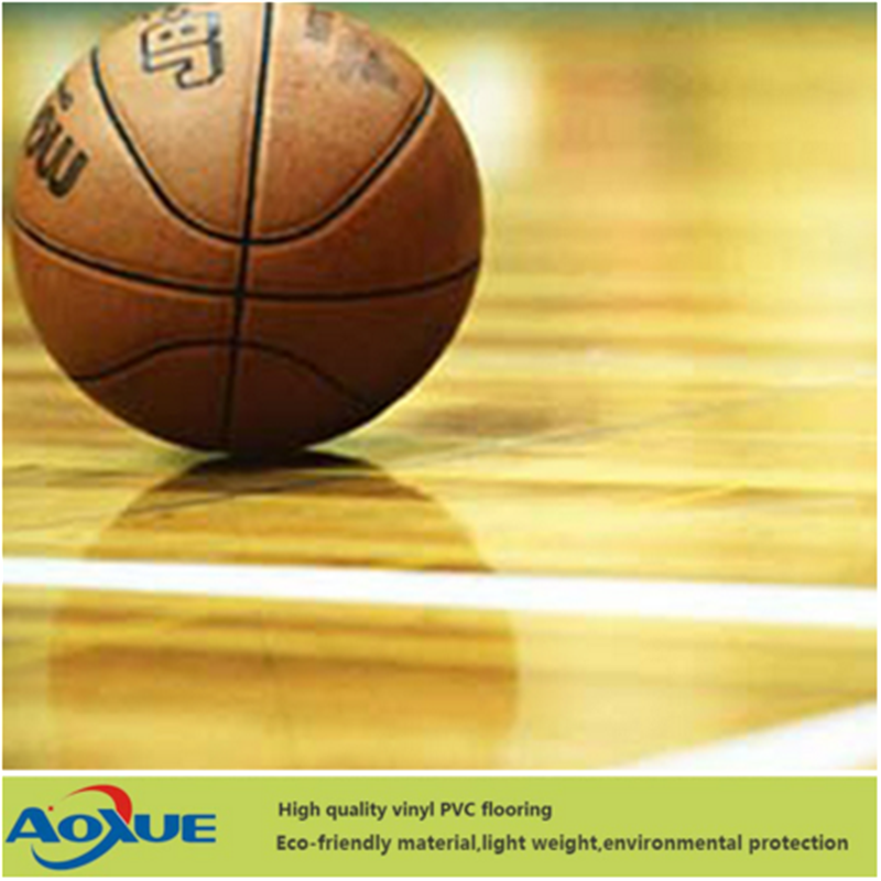 PVC Sports Flooring for Indoor Basketball Wood Pattern