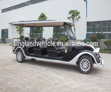 hot 4 wheel electric open car tour classical golf cart with electric power 8 passenger seat tourist old classic car with roof