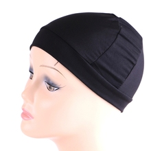 5pcs/lot Black glueless adjustable stretch hairnets wig liner spandex net elastic dome cap for making wigs