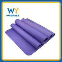 TPE/PVC/NBR/EVA/rubber selling extra thick 4/6/8mm yoga mat with logo, Non toxic high quality eco-friendly yoga mat