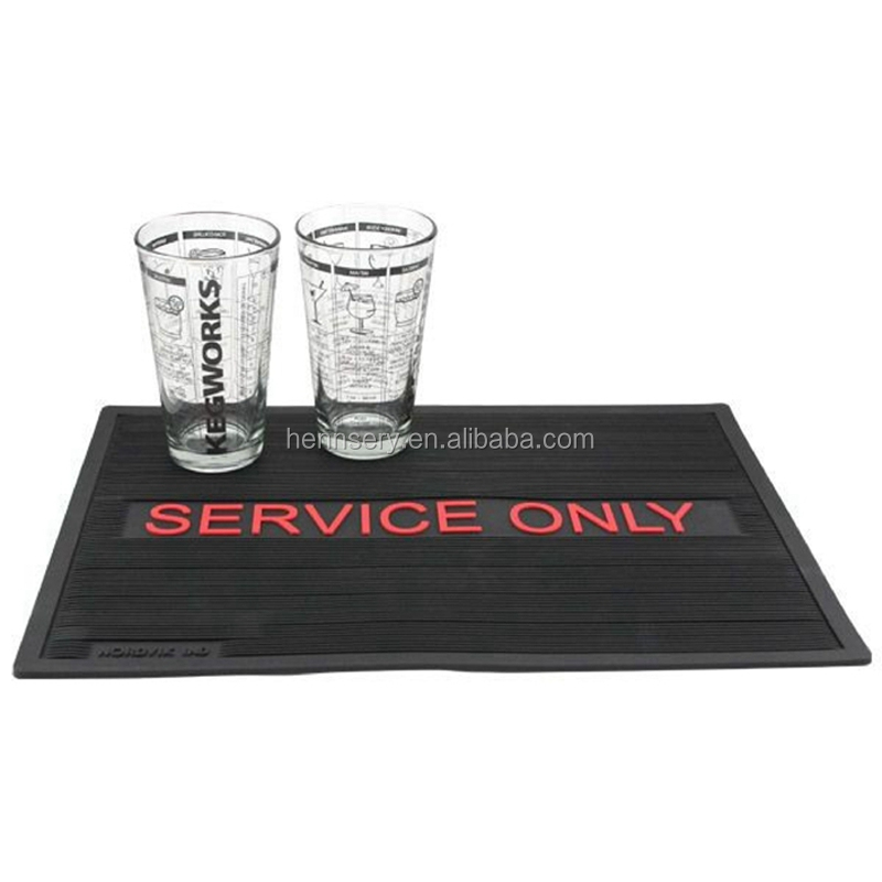 Custom logo bar counter mat with high quality