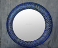 Bright Color Fashion Design Hand Made Mosaic and Crystal Frame Home Decorated Round Mirror