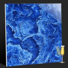 Foshan floor and wall decoration tile blue marble tile