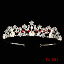 New Design Fashion Crystal Rhinestone Crown Silver Plated Hair Band Women Comb Tiara wholesale princess crown