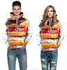 Best price 2015 new arrival 3d full digital print hamburger sublimation big hoodies with hood