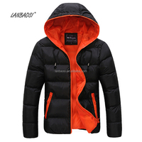 OEM Winter Men's outdoor light weight padded hooded Puffy jacket