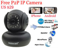 Micro ip camera smallest wanscam brand p2p plug and play motion detection pt control nihgt vision 10m cam ip Andorid&iPhone cam