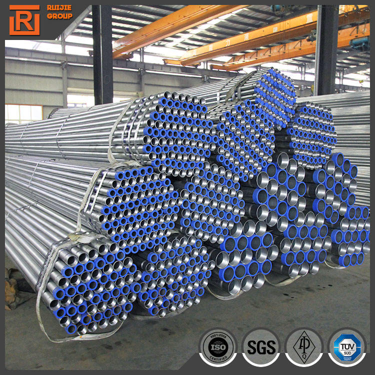 Hot dip galvanized water tube, schedule 40 galvanized steel pipe, bs1387 astm a53 gi tube
