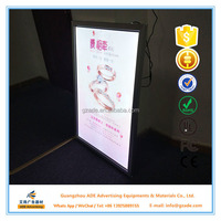 Super thin snap frame light boxes for jewelry shops