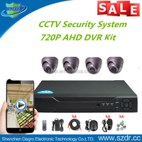 Best Selling Low Cost 720P 1000tvl Motion Detect Full HD AHD 4 Channel CCTV DVR Kit CCTV Camera Brand