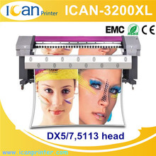 Factory directly 3.2m large format inkjet eco solvent printer with dx5 dx7 heads