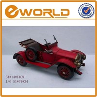 REDRED Imitation old toy car models craft Vintage metal classic diy model hand made antique car toys