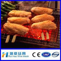 stainless steel crimped wire mesh barbecue grill designs/ barbecue mesh