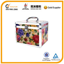 acrylic beauty cosmetic case ,make up case with handle