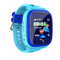 Real waterproof kids watch GPS tracker with touch LCD screen.