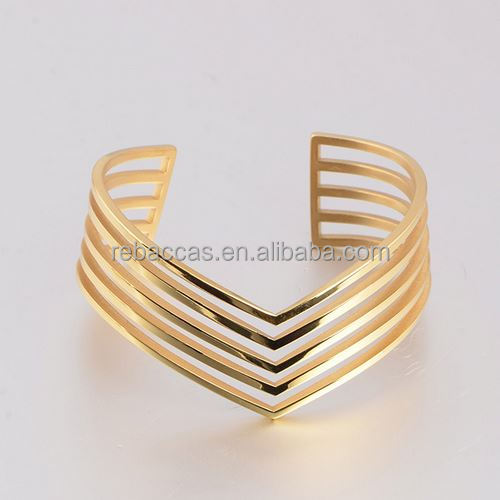 REBACCA'S Jewelry jamaican bangle 18K gold plated jewelry