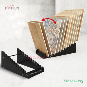 Black Color Foamed Board Display Stands for Tiles Ceramics Tiles Display Racks